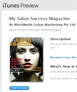 My Salon Success iTunes