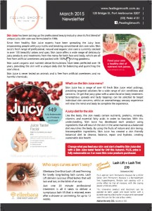 Page 1 of a simple, double-sided, single sheet newsletter ANy salon owner can do.