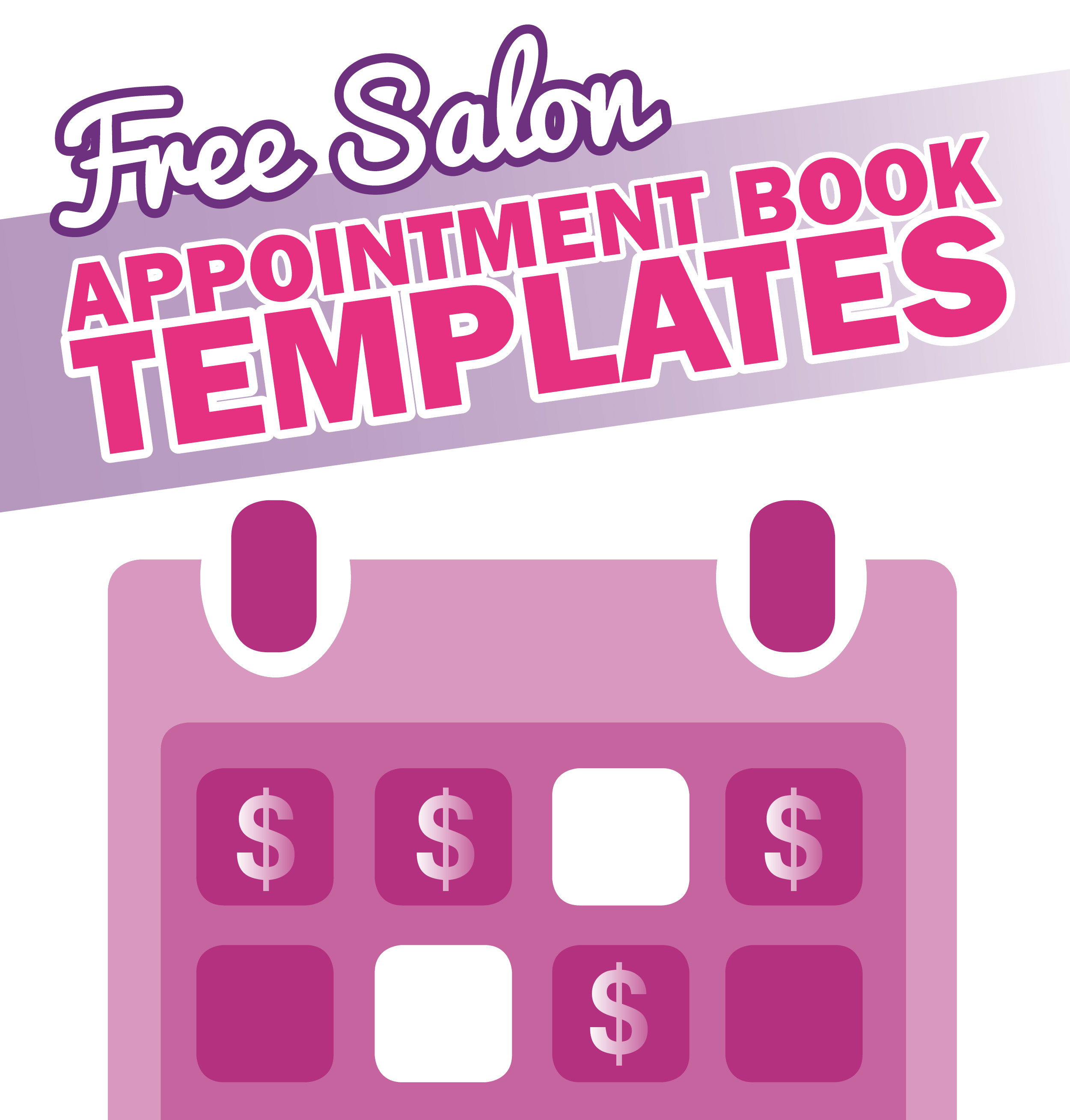 free salon appointment book template worldwide salon marketing